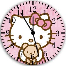 Hello Kitty Frameless Borderless Wall Clock Nice For Gifts or Decor Z49