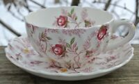 Vintage Copeland Spode Rosebud Chintz Cup and Saucer