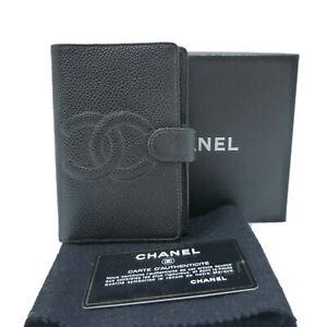 Authentic CHANEL Agenda Mini Caviar Skin Day Planner Cover A13506 #W502969