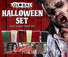 Halloween Makeup Kit Face & Body Liquid Paint Set 6 colours 180ml Global Colours
