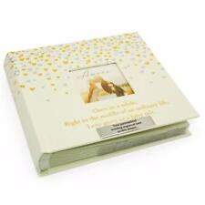 Fairy Tale Personalised Wedding Photo Album With Gold Hearts WG798-P