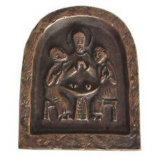 Bronze Relief Jesus und die Emmaus Jünger 8cm * 7cm