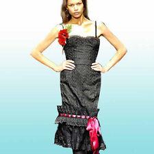 BLACK COTTON EYELET CORSET dress BY DOLCE & GABBANA sz 42
