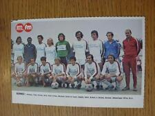 """1976/1977 Football Magazine (France) Colour Team Group [8""""x 5""""] Cut Outs: Rennes"""