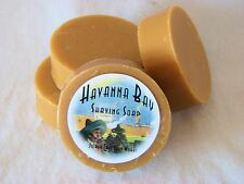 Havana Bay Handmade Shaving Soap with Goat's Milk, One Round Mug Size Bar