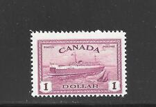 CANADA KING GEORGE VI PEACE ISSUE $ 1.00 TRAIN FERRY STAMP ## 273  BIG SALE