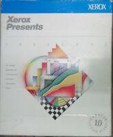 Xerox Presents, Version 1.0, 1989. Presentation software for IBM PC series.