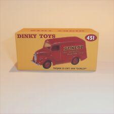 Dinky Toys 451 Trojan Van Dunlop Tyres empty Reproduction box