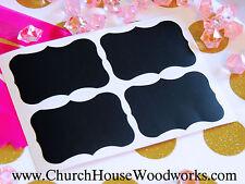 100 small chalkboard stickers, vinyl stickers, organization, weddings, labels