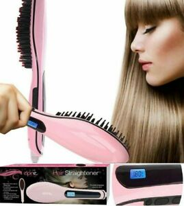 Fast Heated Electric Straight Hair Comb Beard Straightner Brush Styler Men Women