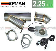 "2.25"" inch Exhaust Bypass Valve electric stainless remote cutout y-pipe dump cat"