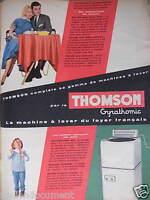 PUBLICITÉ 1956 MACHINE À LAVER THOMSON GYRATHOMIC - ADVERTISING