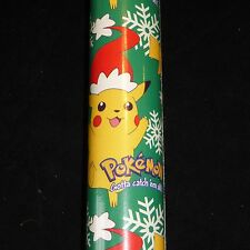 2000 NOS Pokemon Gotta Catch em All Gift Wrapping Paper Christmas Roll PIKACHU