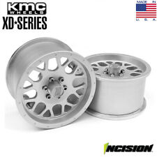 Incision IRC00121 Clear Anodized KMC 2.2 XD820 Grenade Beadlock Wheels (2)