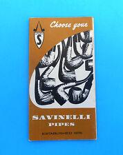 SAVINELLI PIPE  beautifull vintage catalogue* Autograph Giubileo d'oro Punto oro