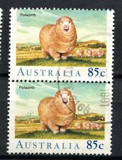 Australia 1989 SG#1197, 85c Sheep Used Pair Cat £5.50 #A50144