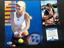 Anna Kournikova Hot! signed autographed tennis 8x10 photo Beckett BAS coa