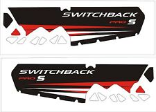 POLARIS tunnel decal SWITCHBACK rush 800 600 PRO S AXYS 120 137 red black pro s