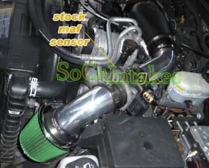 Black Green cold Air Intake System Kit For 1996-2001 Oldsmobile Bravada 4.3L V6