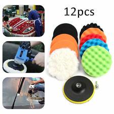 "12pc 6"" 150mm Waxing Buffing Sponge Buffer Polishing Pad Kit for Car Polish New"