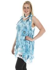 Vestidos de mujer túnica de color principal azul 100% algodón