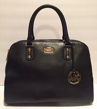 Michael Kors Sandrine Large Satchel Purse Handbag Leather Black $398