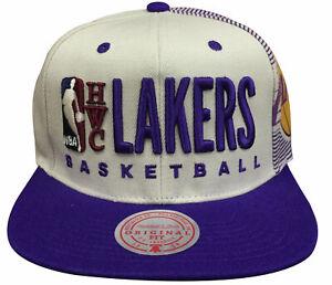 Mens Mitchell & Ness Sand NBA Los Angeles Lakers HWC Snapback Hat