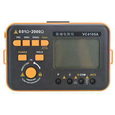VC4105A Digital LCD Earth Ground Resistance Meter Tester Voltage Measurement
