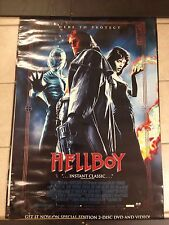 HELLBOY MOVIE POSTER. SELMA BLAIR, RON PEARLMAN EXTREMELY RARE, ONLY 1 ON EBAY