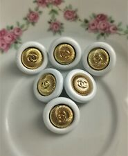 Lot of 3 Chanel CC Logo Button Buttons Vintage Ø 18mm 0,71 inch Knopf Knöpfe SET