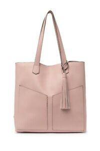 NWT! Steve Madden Blush Large Lou Angled Shoulder Tote & Pouch 2-in-1 RV$98