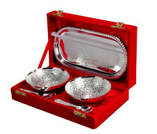 German Silver Bowl set of 5 Pcs.for wedding gift Diwali Corporate gift
