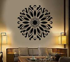 Vinyl Wall Decal Mandala Buddhism Lotus Flower Yoga Stickers (1645ig)