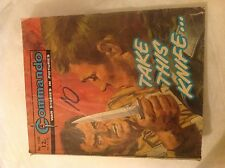 Vtg Commando Take this knife No.1380 ISSUE PRICE 12p 1980 War Story Picture Bk