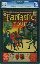 FANTASTIC FOUR # 11  US MARVEL 1962 origin &1st app Impossible Man KIRBY CGC 3.5