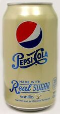 "FULL NEW 12oz 355ml Can American ""Real Sugar"" Pepsi Vanilla (New Style 2014) USA"
