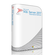 Microsoft SQL Server 2017 Standard with 4 Core License, unlimited User CALs
