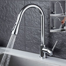 Commercial Pull Out Kitchen Sink Basin Mixer Tap Rinse Faucet Chrome