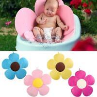 Newborn Baby Bathtub Mat Foldable Blooming Flower Bath Support Cushion NI5L
