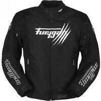 Furygan Genesis Claw Waterproof Textile Motorcycle Motorbike Jacket Black White