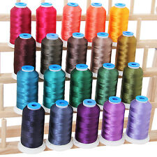 POLYESTER MACHINE EMBROIDERY THREAD SET 20 DARK COLORS - 1000M CONES - 40WT