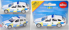 Siku Super 1390 03000 Audi A4 Avant Schwedische Polizei, POLIS, Sondermodell