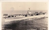 Vintage Real Photo Postcard RPPC USS RANGER Official US Navy Photo