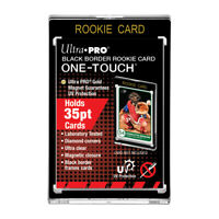 5-Pack Ultra Pro BLACK Border 35pt ROOKIE One Touch Magnetic Trading Card Holder