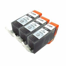 3 PK INK NON-OEM CANON PGI-225BK BLACK MG5120 MG5220 MG6120 MG8120 MX882 IP4820
