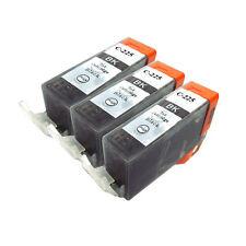 3 PK INK NON-OEM CANON PGI-225BK BLACK MG5120 MG5220 MG6120 MG8120 MX882 IP4820