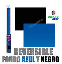 Fondo reversible doble cara decorativo aqua nova L 100x50cm azul y negro acuario