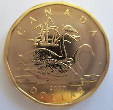 2007 CANADA $1 TRUMPETER SWAN SPECIMEN DOLLAR COIN - A