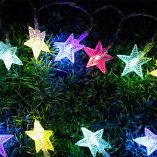 LED Star Fairy Light Window Curtains String Lamp for Christmas Xmas Party Decor Colour