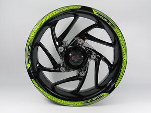 Set Rim Adesivo Verde Strisce Compatibile Per Kawasaki Z900